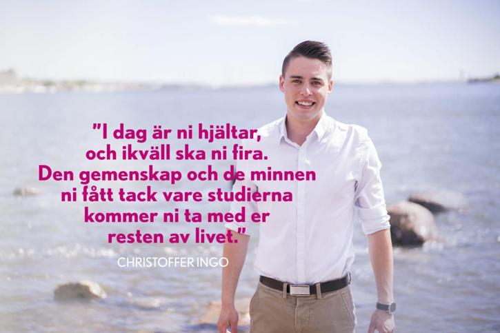 Ingo hyllade examinander under festtalet på Yrkesakademins dimission