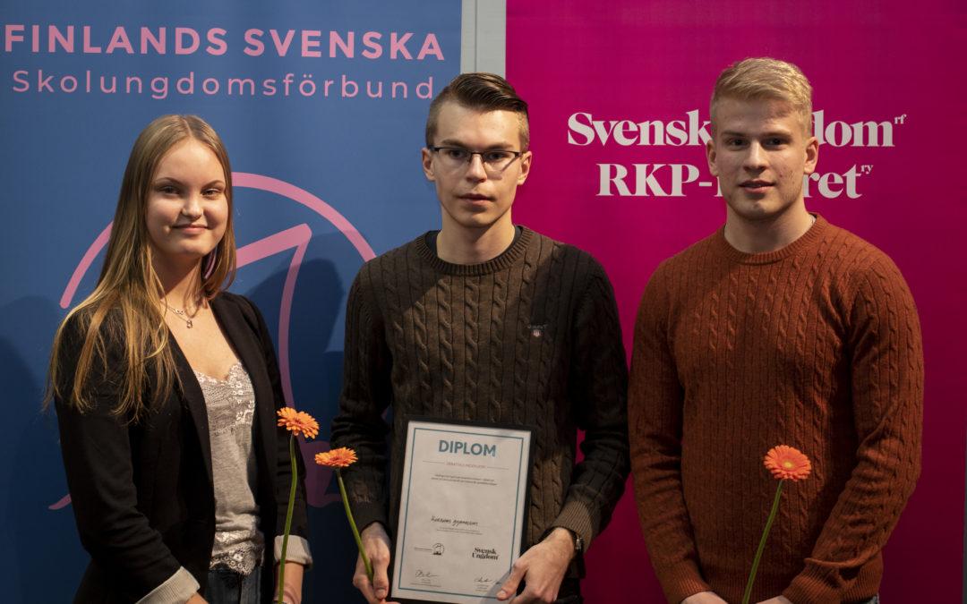 Korsholms gymnasium tog hem vinsten i årets debattävling