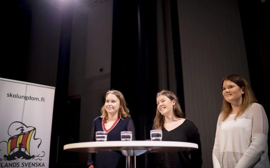 Borgå gymnasium tog hem vinsten i årets debattävling